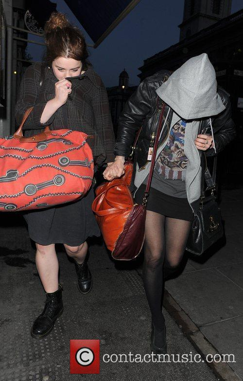 Pixie Geldof and A Freind Leaving Groucho Club 10