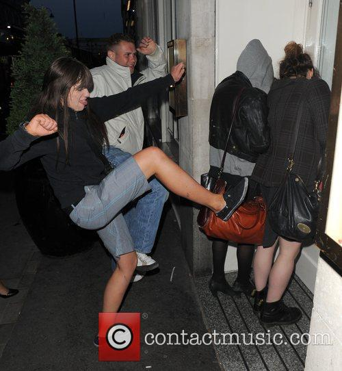 Pixie Geldof, A Friend Are Huddled In A Corner While A Group Of Drunks Start To Hurl Abuse, Attempt To Kick and Punch The Pair. Pixie Was Leaving Groucho Club After A Night Out With Friends At 5.30am. 9