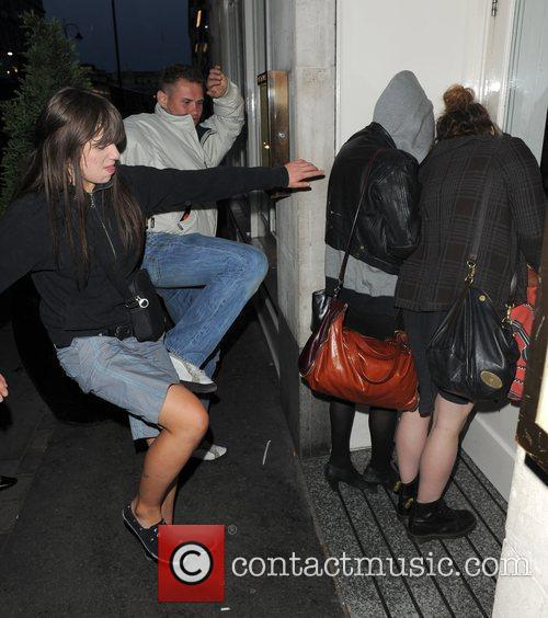 Pixie Geldof, A Friend Are Huddled In A Corner While A Group Of Drunks Start To Hurl Abuse, Attempt To Kick and Punch The Pair. Pixie Was Leaving Groucho Club After A Night Out With Friends At 5.30am. 8
