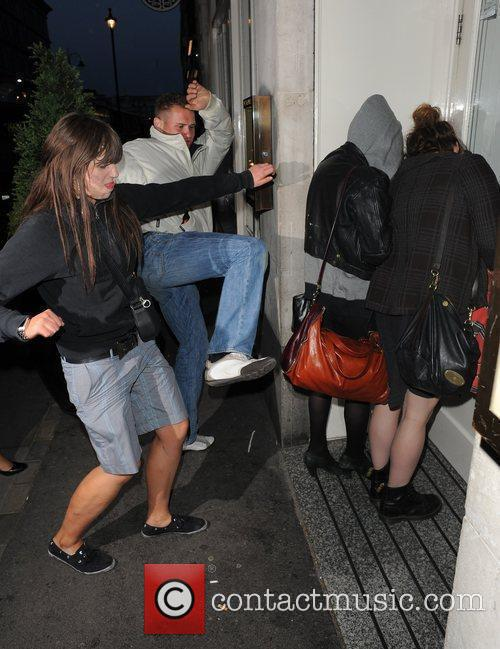 Pixie Geldof, a friend are huddled in a corner while a group of drunks start to hurl abuse, attempt to kick and punch the pair. Pixie was leaving Groucho Club after a night out with friends at 5.30am. 5