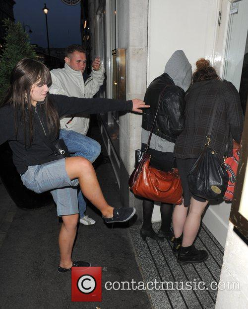 Pixie Geldof, A Friend Are Huddled In A Corner While A Group Of Drunks Start To Hurl Abuse, Attempt To Kick and Punch The Pair. Pixie Was Leaving Groucho Club After A Night Out With Friends At 5.30am. 11