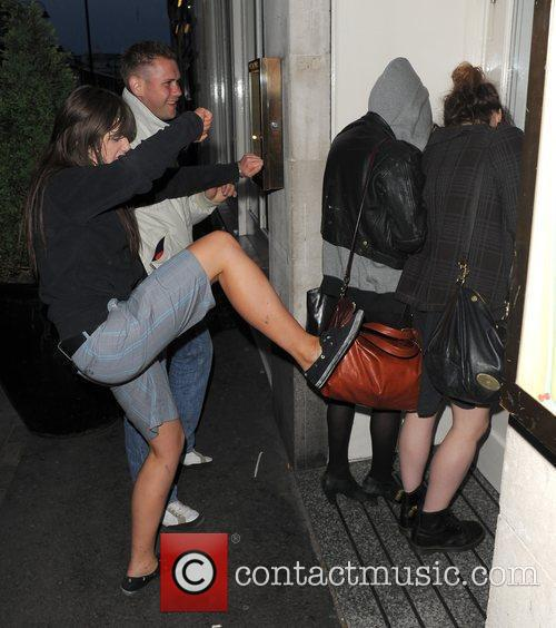 Pixie Geldof, A Friend Are Huddled In A Corner While A Group Of Drunks Start To Hurl Abuse, Attempt To Kick and Punch The Pair. Pixie Was Leaving Groucho Club After A Night Out With Friends At 5.30am. 7