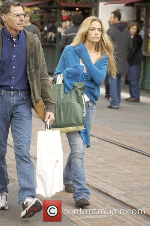 Denise Richards Christmas shopping at The Grove with...
