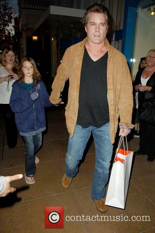Christmas shopping at The Grove with his daughter