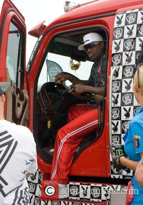 Dennis Rodman in his truck Gumball 3000 -...