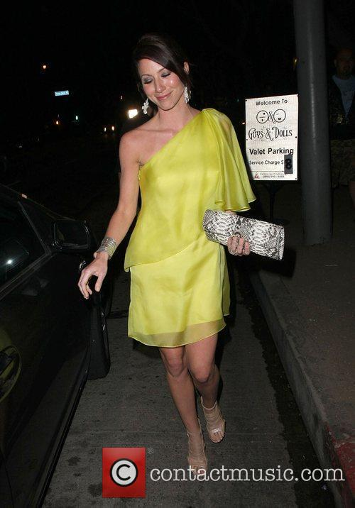Lynn Collins leaving the Guys and Dolls Lounge...