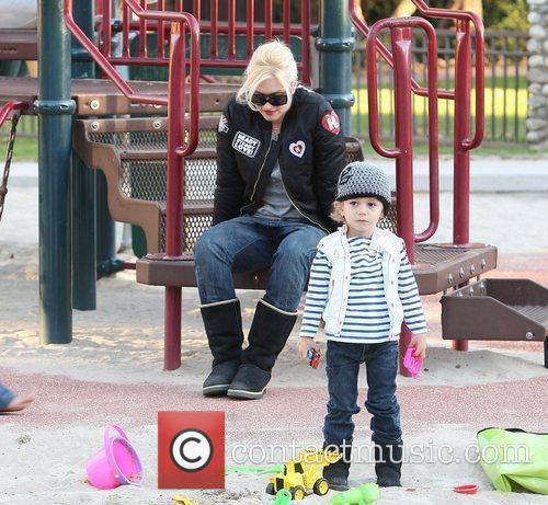 Gwen Stefani and her sons, Kingston Rossdale and...