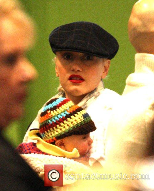 Gwen Stefani shops at the Grove with son...