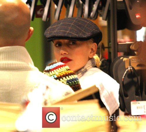 Gwen Stefani shops at the Grove with her...