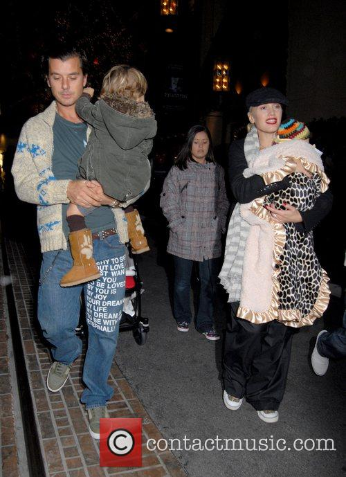 Gwen Stefani and Gavin Rossdale and family go...