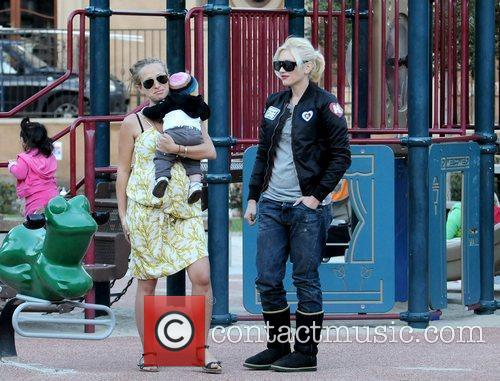 Jennifer Meyer with Zuma Rossdale and Gwen Stefani...