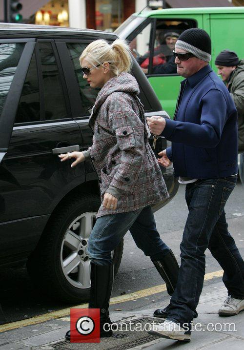 Gwen Stefani leaving pan-asian noodle restaurant Wagamama with...