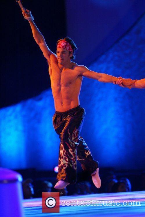 Gymnastics superstars of Team USA perform at the...