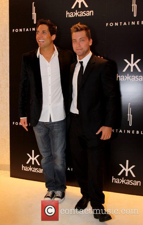 Joe Francis and Lance Bass The grand opening...