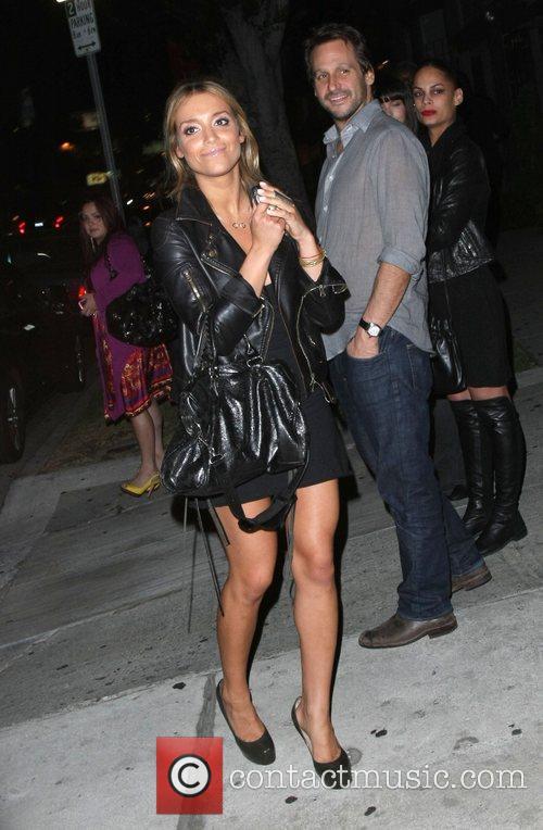 Haley Giraldo leaving Koi restaurant Los Angeles, California