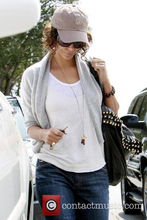 Leaving Byron & Tracey Salon in Beverly Hills...