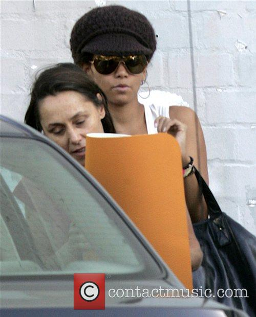 Halle Berry leaving a yoga studio Los Angeles,...