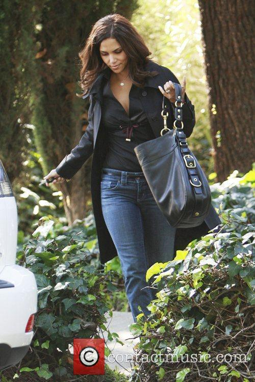 Halle Berry visits a friend in Hollywood Los...