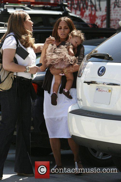 Halle Berry takes her daughter, Nahla Ariela Aubry,...
