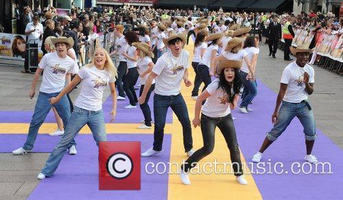 Atmosphere UK film premiere of 'Hannah Montana' at...