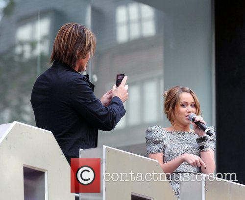 Miley Cyrus and Billy Ray Cyrus  UK...