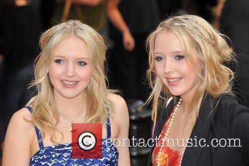 Amanda and Samantha Marchant Hannah Montana UK premiere...