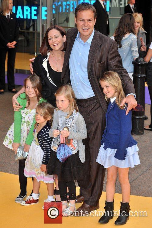 Peter Jones and family Hannah Montana UK premiere...