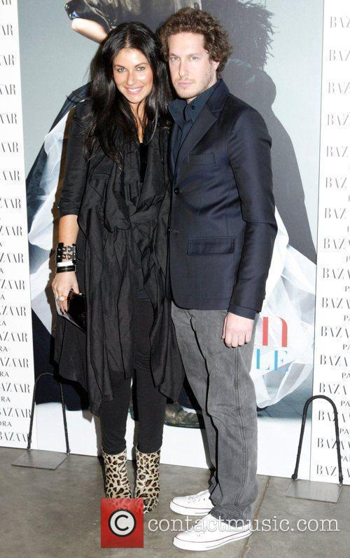 At the Harpers Bazaar closing party on Day...