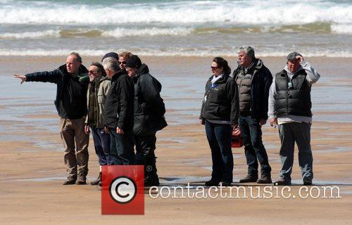 Filming on the Pembrokeshire Coast set of 'Harry...