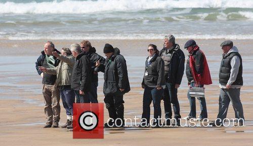 Director David Yates filming on the Pembrokeshire Coast...