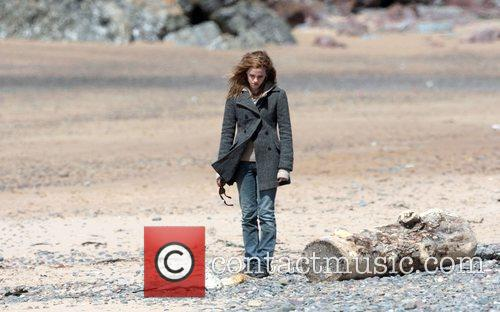 Emma Watson who plays Hermione Granger filming on...