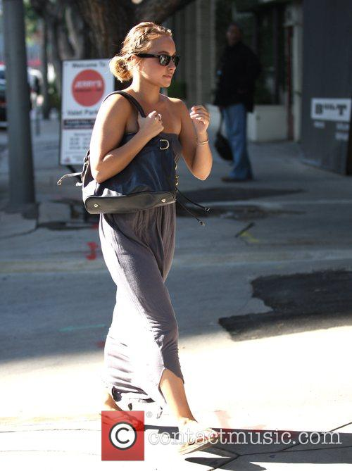 Hayden Panettiere meets a friend for lunch while...