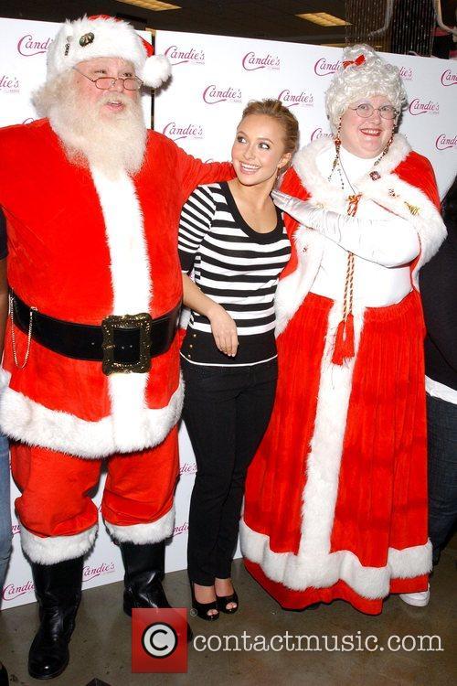 Santa, Hayden Panettiere and Mrs. Claus Candie's spokesperson...