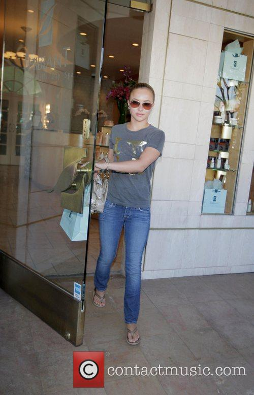 Hayden Panettiere  leaving Thibiant day spa Los...