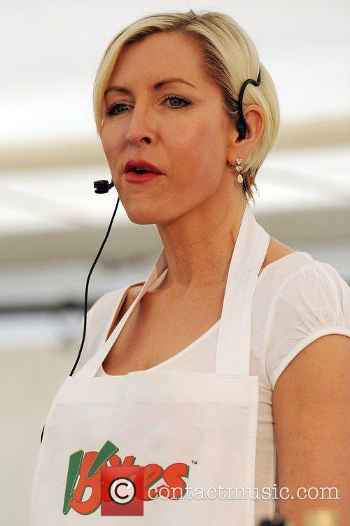 Heather Mills demonstrates her Vegan cooking skills at...