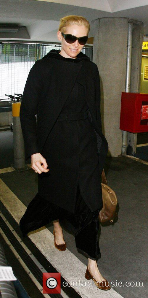 Tilda Swinton arrives at Heathrow Airport from Los...