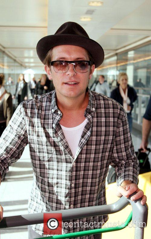 Mark Owen from Take That arriving at London's...