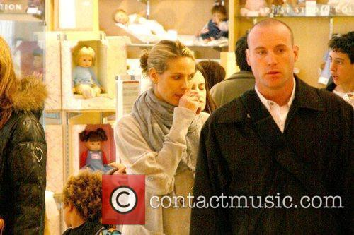 Heidi Klum  takes her children shopping at...