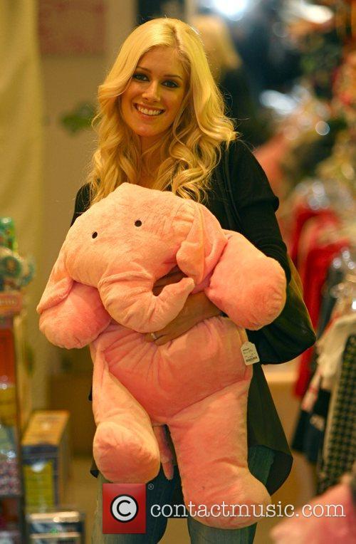 Heidi Montag seem in a very playful mood...
