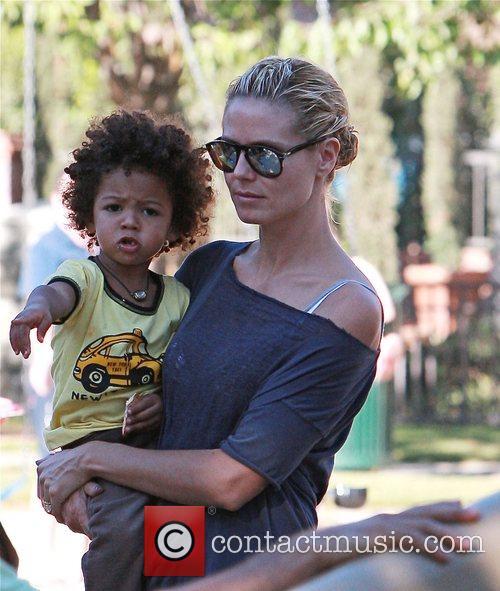 Heidi Klum and Her Son Johan 5