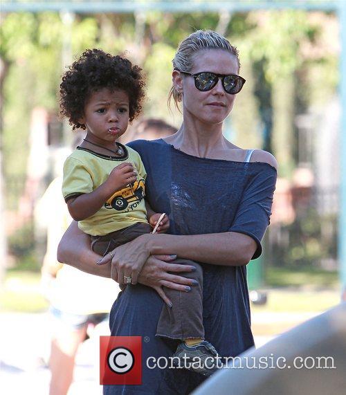 Heidi Klum and Her Son Johan 3