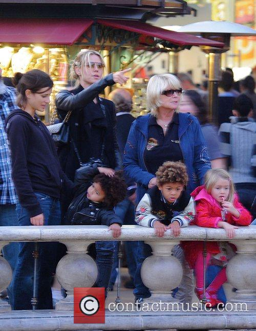 Heidi Klum at the Grove with her children...