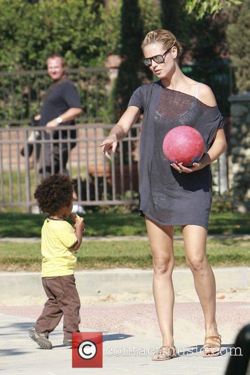 Heidi Klum and her son Johan 9