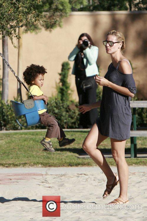 Heidi Klum and her son Johan 18