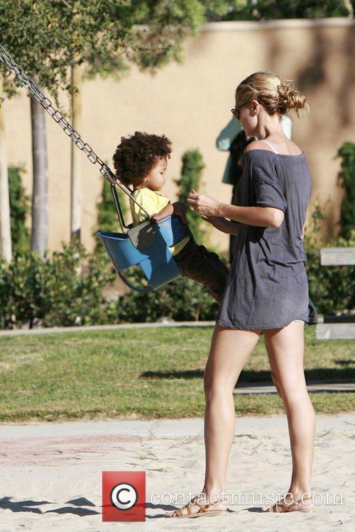 Heidi Klum and her son Johan 10