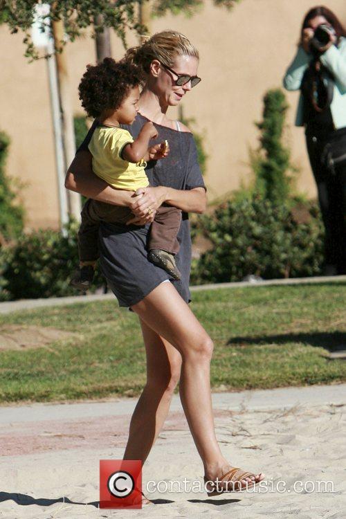 Heidi Klum and her son Johan 11