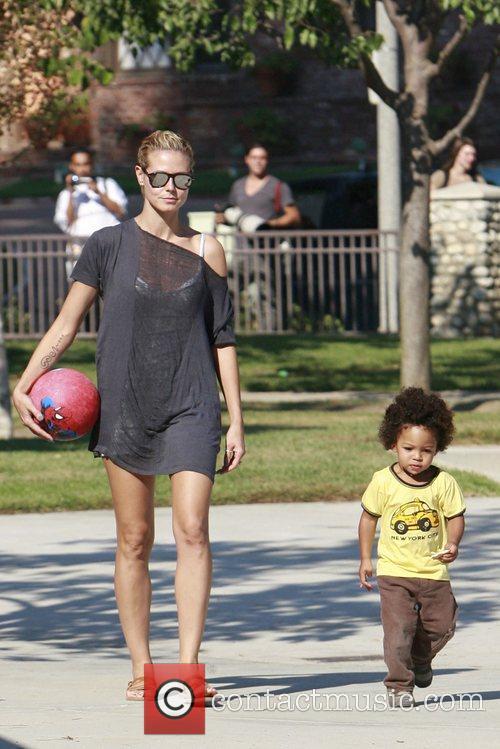 Heidi Klum and her son Johan 20