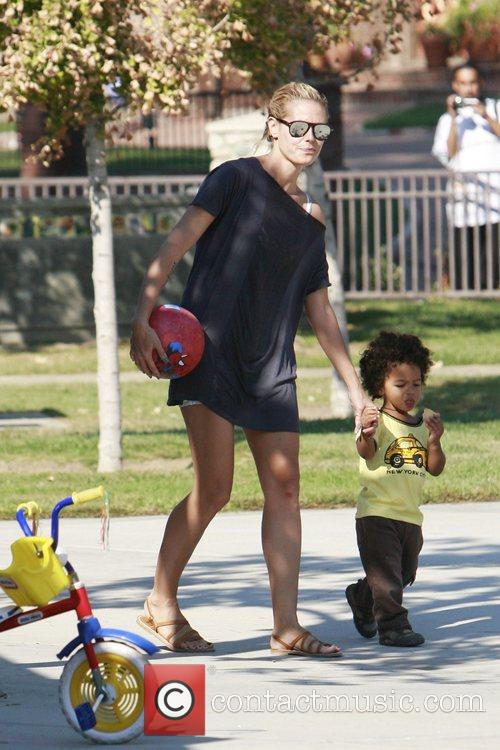 Heidi Klum and her son Johan 7