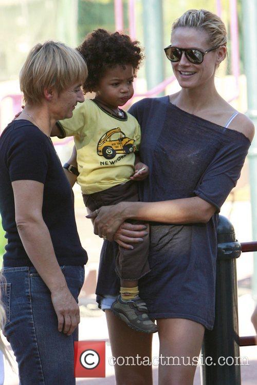 Heidi Klum and her son Johan 1