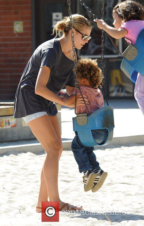 Heidi Klum and her son Henry 1